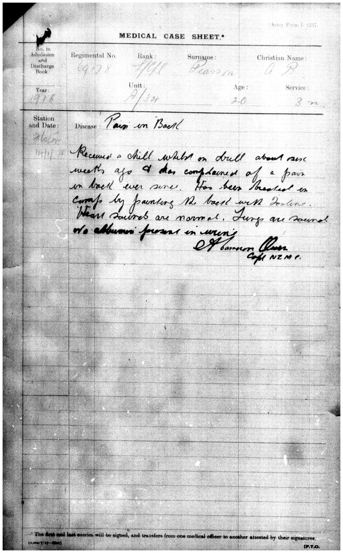 PEARSON, Alexander Buckley - WW1 69178 - Army