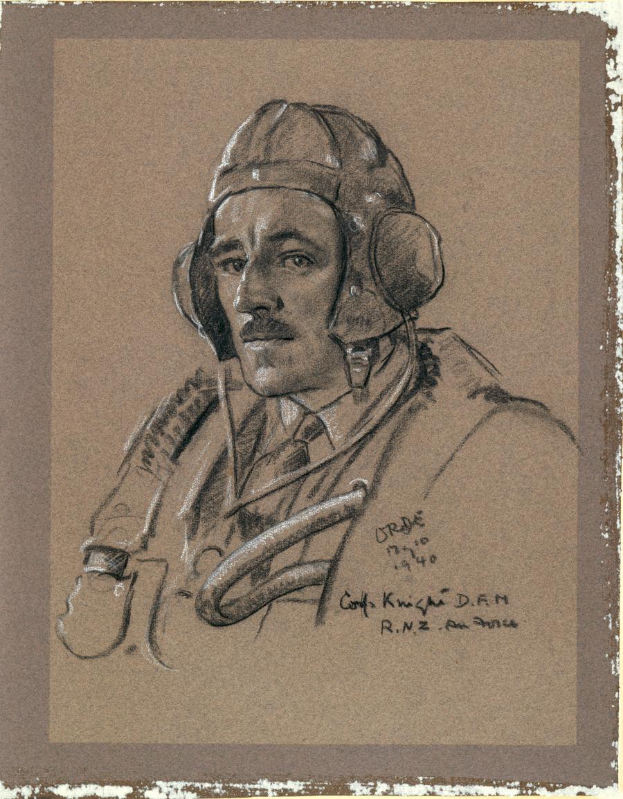 Corporal C.B.G. Knight, DFM, RNZAF [Royal NZ Air Force], 10 May 1940