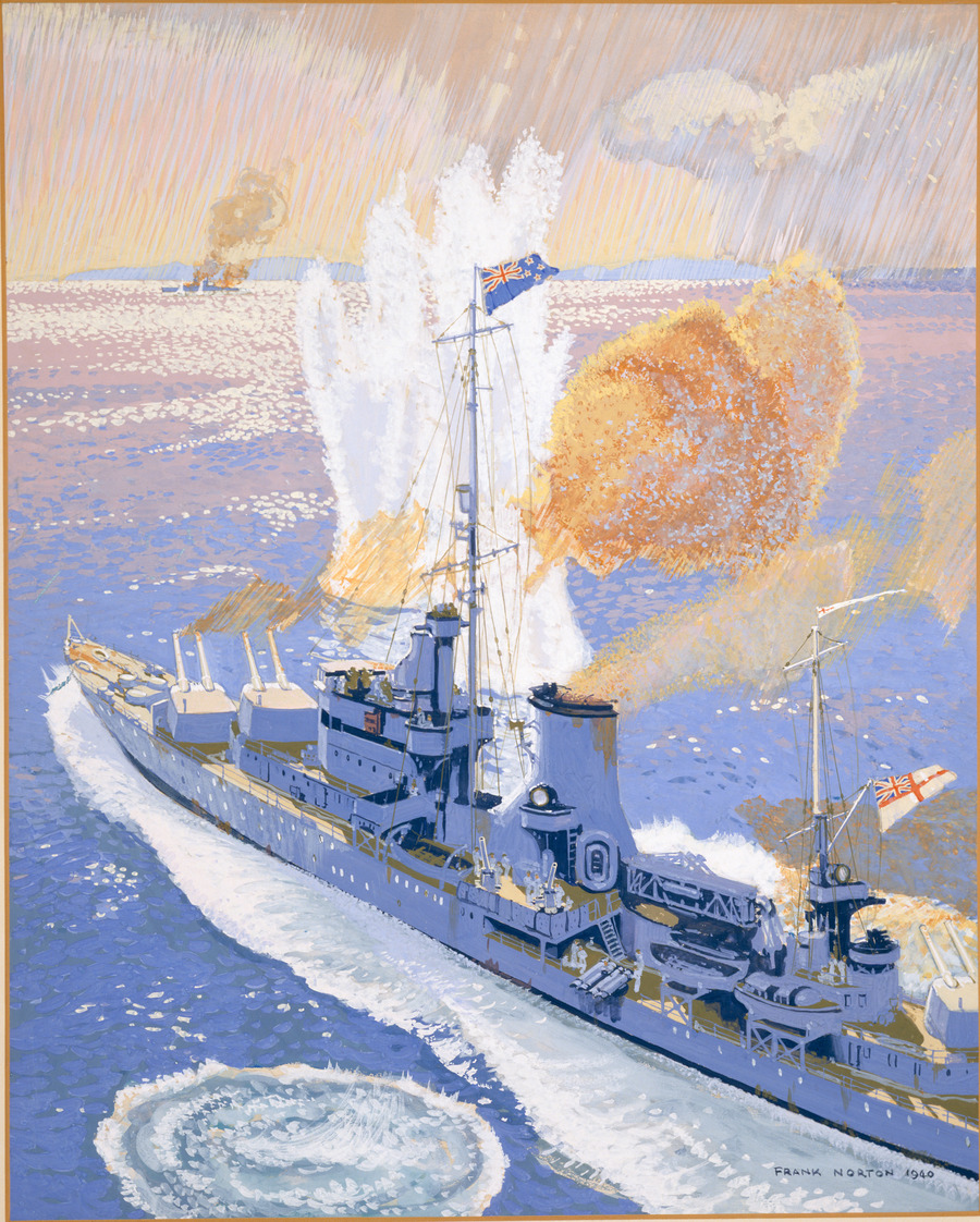 "HMS ""Achilles"" in Battle of the River Plate"