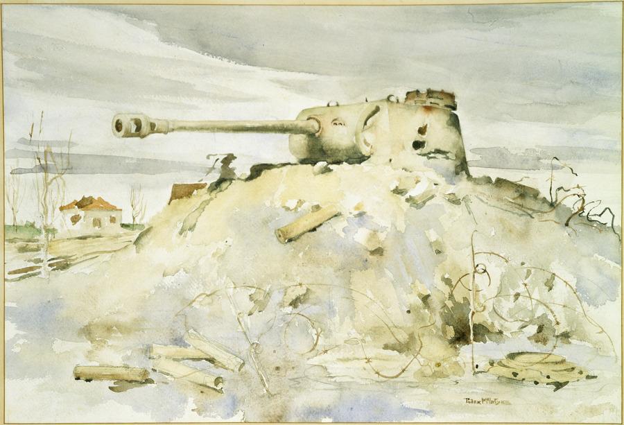 German tank turret, Rimini, Italy, September 1944