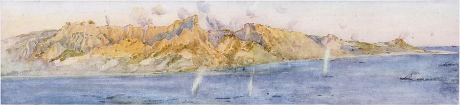 The coast north of ANZAC Cove [Gallipoli]