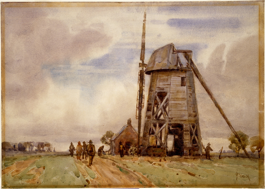 An Artillery outpost, Courcelles-Sailly Road