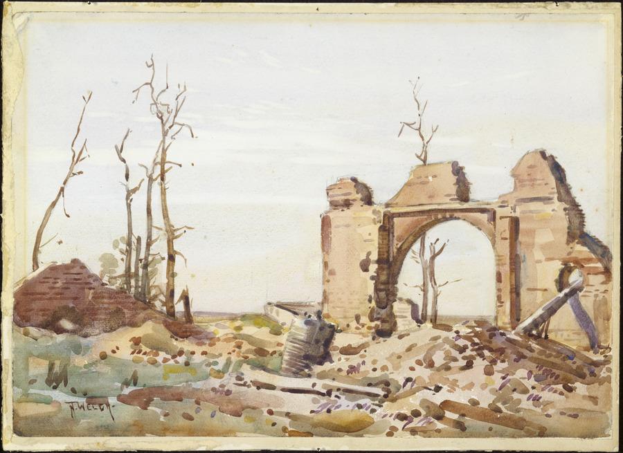 Ruins of sugar refinery, Flers, September 1918