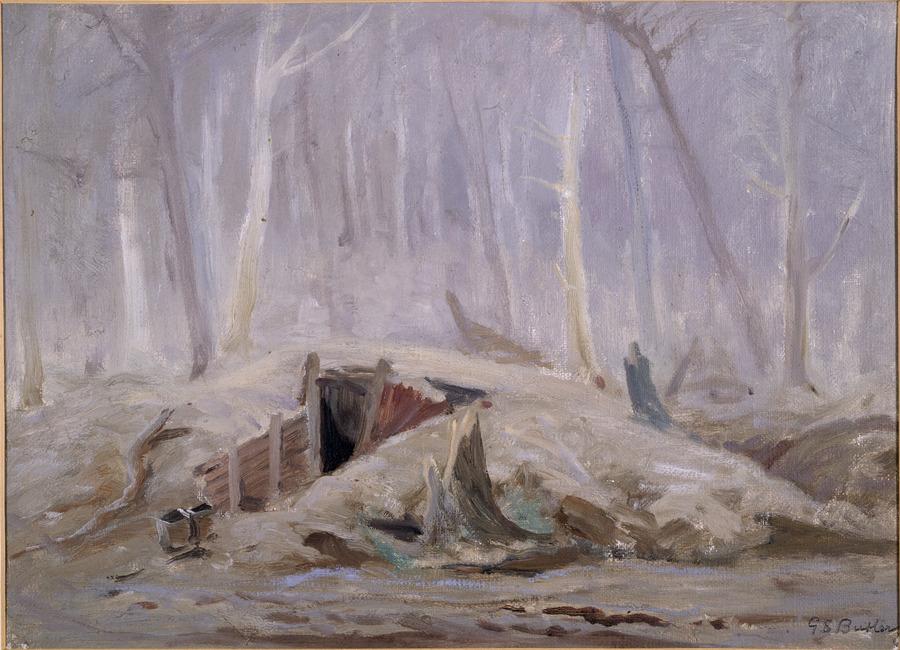 A dug-out at Hyde Park Corner, Ploegsteert