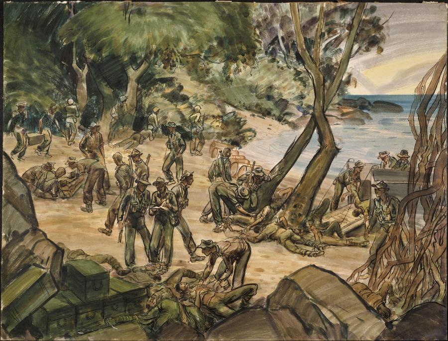 Soanatalu beach morning, 2 November 1943