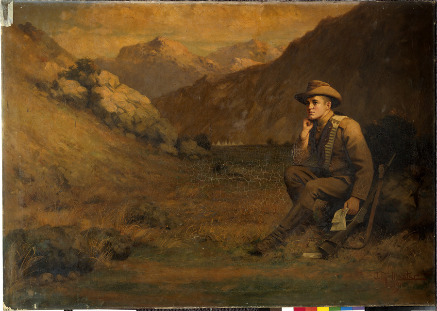 Soldier in landscape [Boer War]
