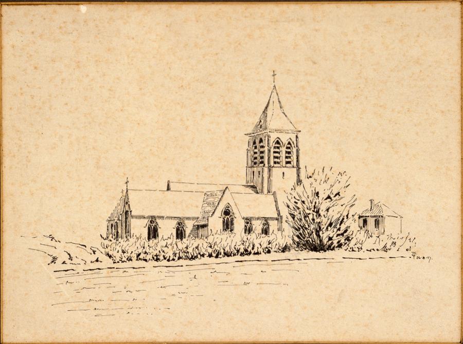 Erquinghem Church - France, 26 March 1917