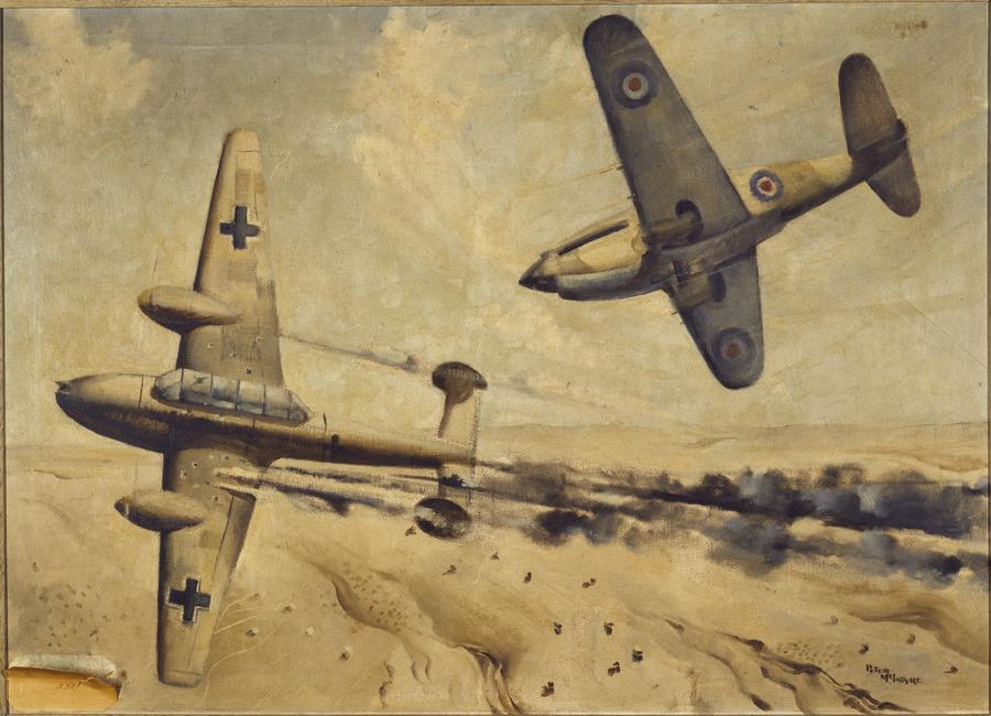 Air battle over the Western Desert