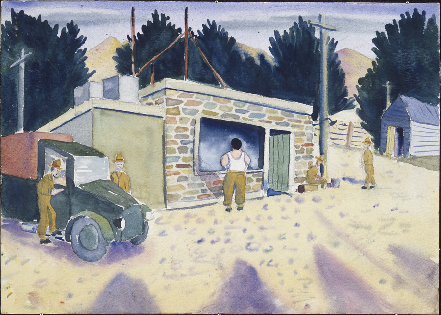 [Truck and buildings, Middlemarch, Otago]