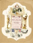 Invitation shows head and shoulders portrait of th...