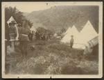 Military camp, circa 1890s. Location, and photogra...