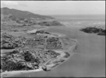 Aerial view of Raglan, photographed by Whites Avia...