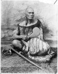 Seated studio portrait of Take Take Rangitupu from...