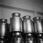 Municipal Milk Department cans inside the Wellingt...