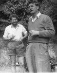 Paul Olds (left) and Anton Vogt, circa 1965. Locat...