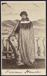 Standing portrait of Kawana Hunia Te Hakeke wearin...