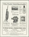 A flier showing several electrical appliances that...