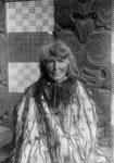 Sophia Hinerangi, circa 1895. She wears a tag cloa...