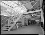 Empty factory interior during alterations 15/3/65,...