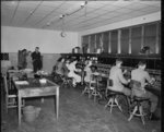Telephone switchboard and operators, Feilding Post...