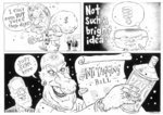 Shows three separate cartoons. [1] Winston Peters,...