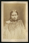 Carte de visite portrait of a Maori woman wearing ...
